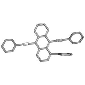 1 Phenyl 910 Bis2 Phenylethynylanthracene 3D