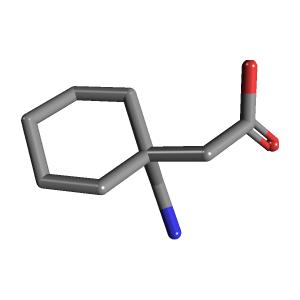 gabapentin | c9h17no2 - pubchem, Skeleton