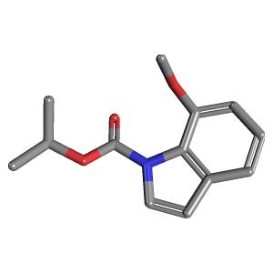 1 BOC 7 Methoxyindole 3D Structure