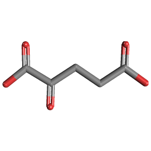 2-Oxoglutaric acid 3D structure