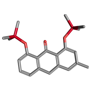 Chrysophanol 9 Anthrone TMS 3D Structure
