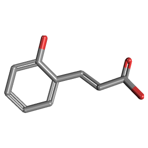 2 Hydroxycinnamic Acid 3D Structure