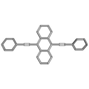 910 Bisphenylethynylanthracene 3D Structure