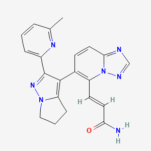 (E)-3-[6-[2-(6-Methylpyridin-2-yl)-5,6-dihydro-4H-pyrrolo[1,2-b]pyrazol-3-yl]-[1,2,4]triazolo[1,5-a]pyridin-5-yl]prop-2-enamide.png
