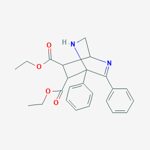 Diethyl 3,4-diphenyl-2,5-diazabicyclo(2.2.2)oct-2-ene-7,8-dicarboxylate