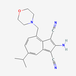 2-Amino-7-isopropyl-4-morpholinomethyl-1,3-azulenedicarbonitrile
