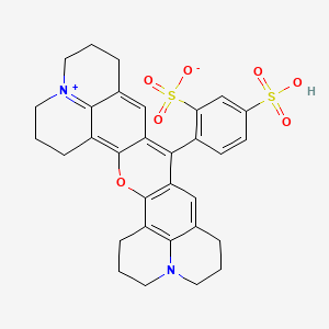 Chemical structure for sulforhodamine 101