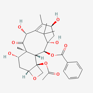 Chemical structure for 10-deacetylbaccatine III