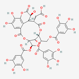 Chemical structure for chebulinic acid