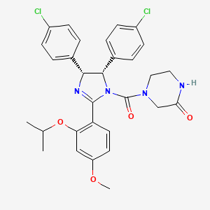 Chemical structure for nutlin 3