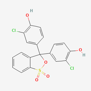 Chemical structure for chlorophenol red