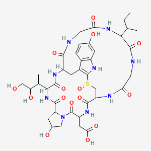 Chemical structure for beta-amanitin