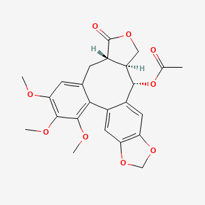Chemical structure for steganacin