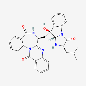 Chemical structure for asperlicin