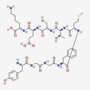 Chemical structure for beta-endorphin (1-9)