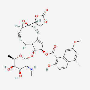 Chemical structure for neocarzinostatin chromophore