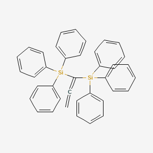 Chemical structure for Allene, 1,1-bis(triphenylsilyl)-