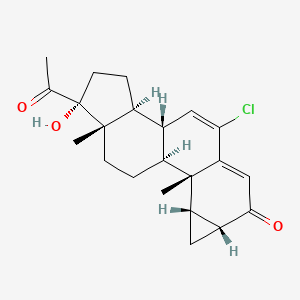 Chemical structure for Cyproterone