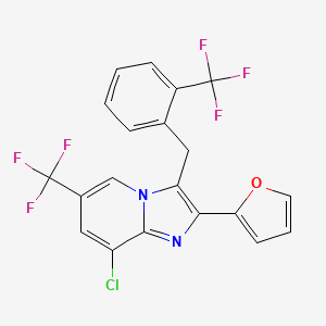Chemical structure for AGN-PC-09PPVP