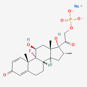 Chemical structure for dexamethasone 21-phosphate