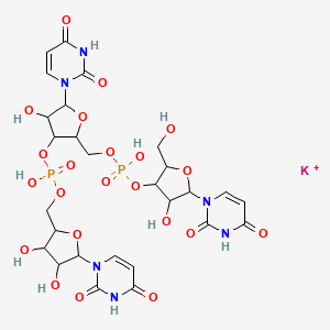 Chemical structure for 3'-Dodecauridylyluridine 12K