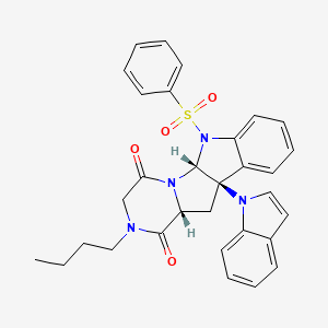 Chemical structure for MLS004256846