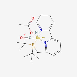 Chemical structure for 6-((Di-tert-butylphosphino)methyl)-2,2'-bipyridineRu(H)(CO)(acetate)