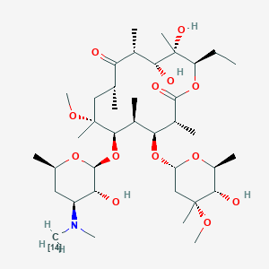 Chemical structure for Clarithro-14C