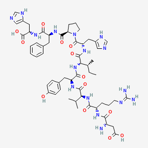 Chemical structure for Angiotensin 1/2 (1-9)