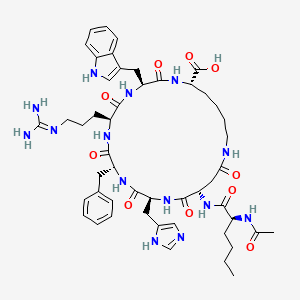 Chemical structure for bremelanotide