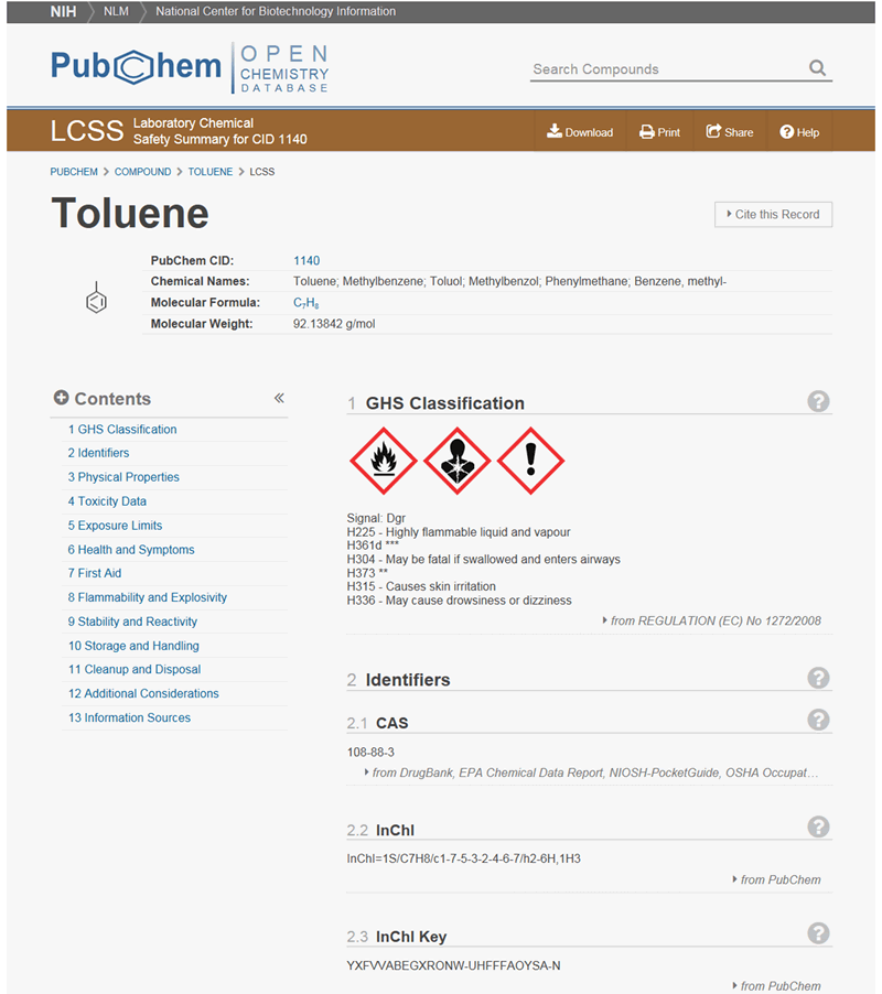PubChem Laboratory Chemical Safety Summary 1