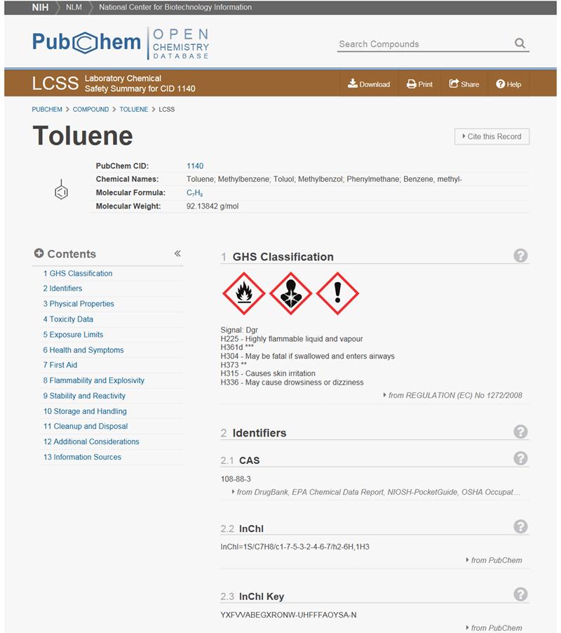 PubChem Laboratory Chemical Safety Summary 1