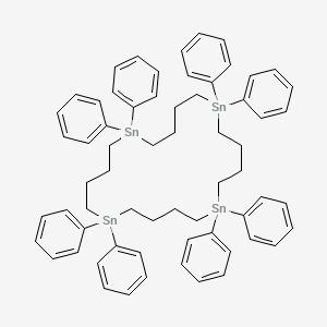 1,6,11,16-Tetrastannacycloeicosane, 1,1,6,6,11,11,16,16-octaphenyl-
