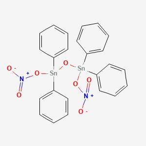[(1,1,3,3-Tetraphenyldistannoxane-1,3-diyl)bis(oxy)]bis(dioxo-lambda~5~-azane)