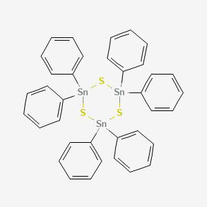 2,2,4,4,6,6-hexaphenyl-1 ,3,5-trithia-2 ,4,6-tristannacyclohexane
