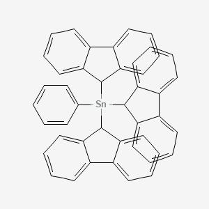 Tri(9H-fluoren-9-yl)(phenyl)stannane