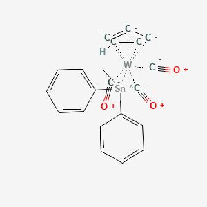 carbon monoxide,cyclopenta-1,3-diene,methyl(diphenyl)tin,tun