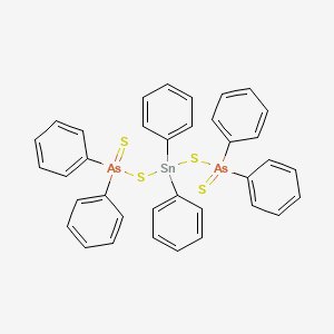 [diphenylarsinothioylsulfanyl(diphenyl)stannyl]sulfanyl-diphenyl-sulfanylidene-$l^{5}-arsane