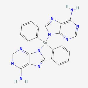 Bis(adeninato-N(9))-diphenyltin IV